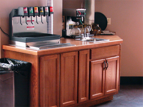 Wood restaurant tables - Southern Pride Custom Cabinets Custom Cabinetry Gallery